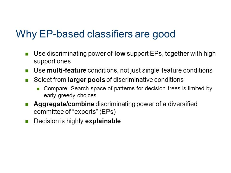 Why EP-based classifiers are good