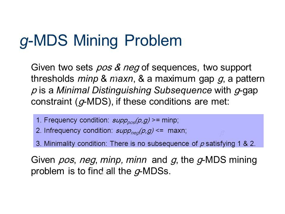 g-MDS Mining Problem