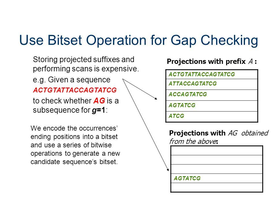 Use Bitset Operation for Gap Checking
