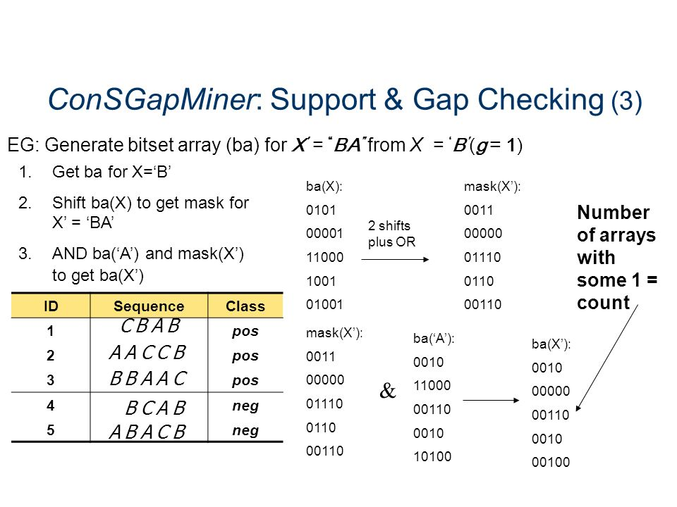 ConSGapMiner: Support & Gap Checking (3)