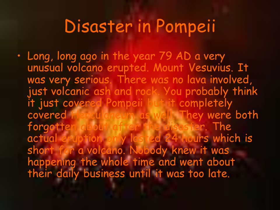 how to build volcano from pompeii