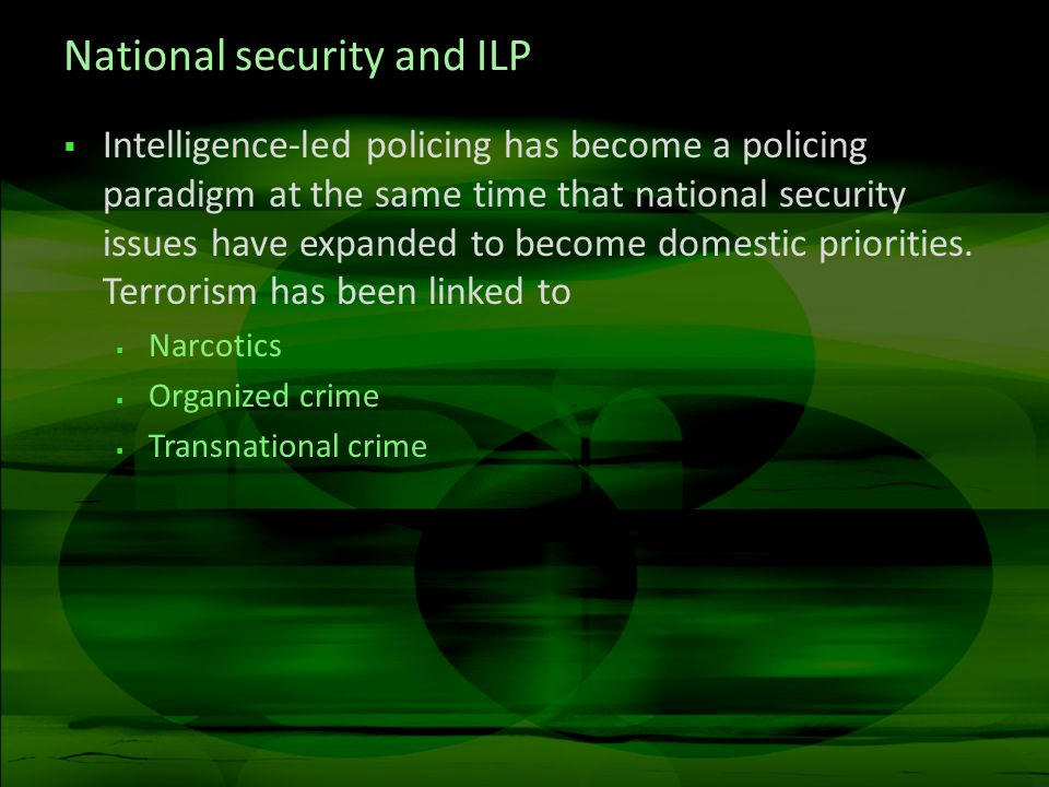 National security and ILP