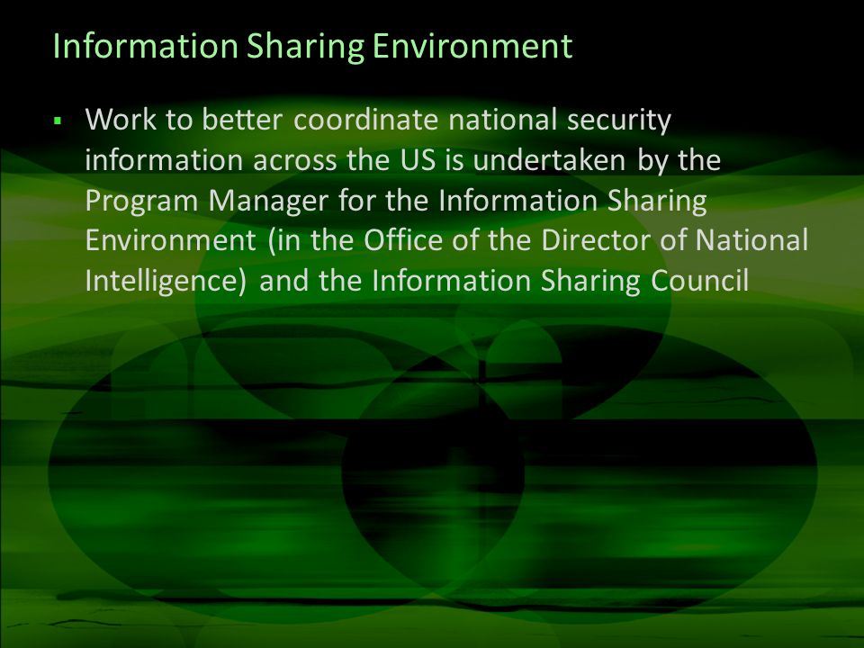 Information Sharing Environment