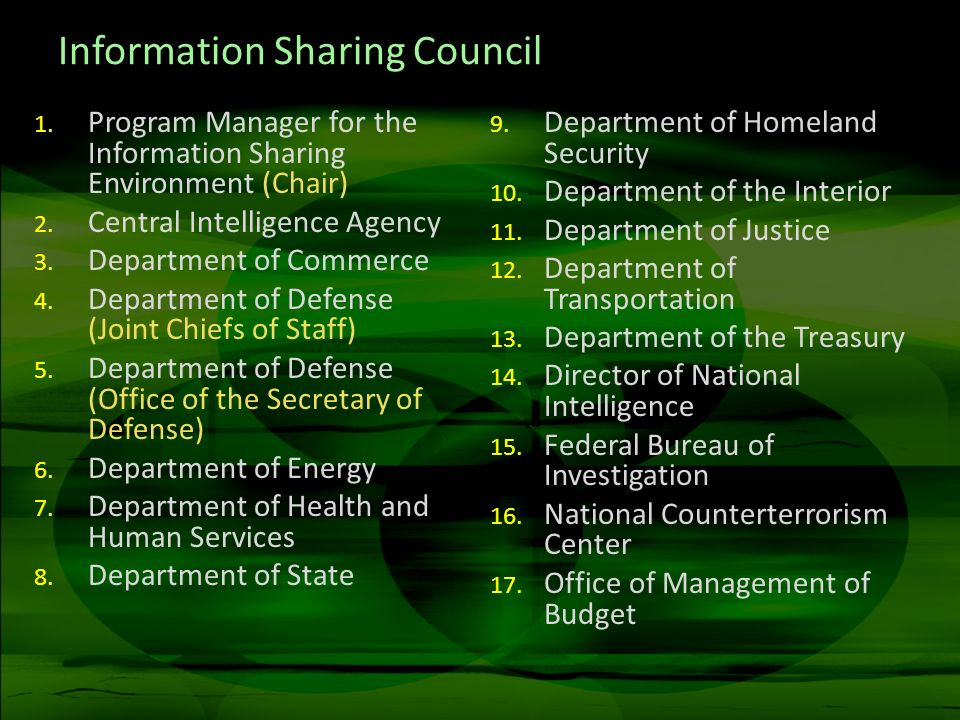 Information Sharing Council