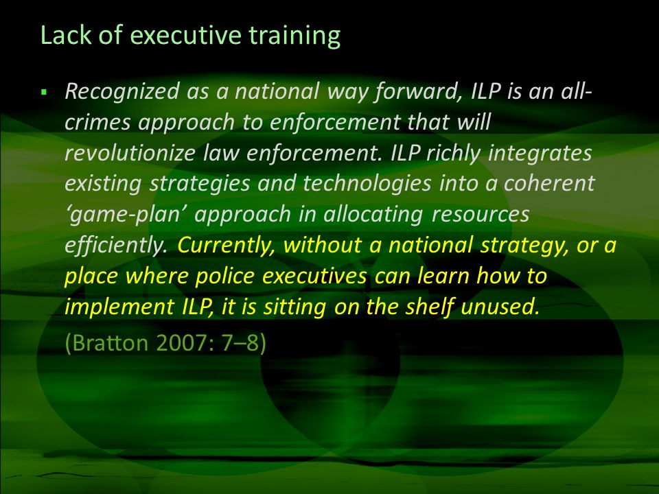 Lack of executive training