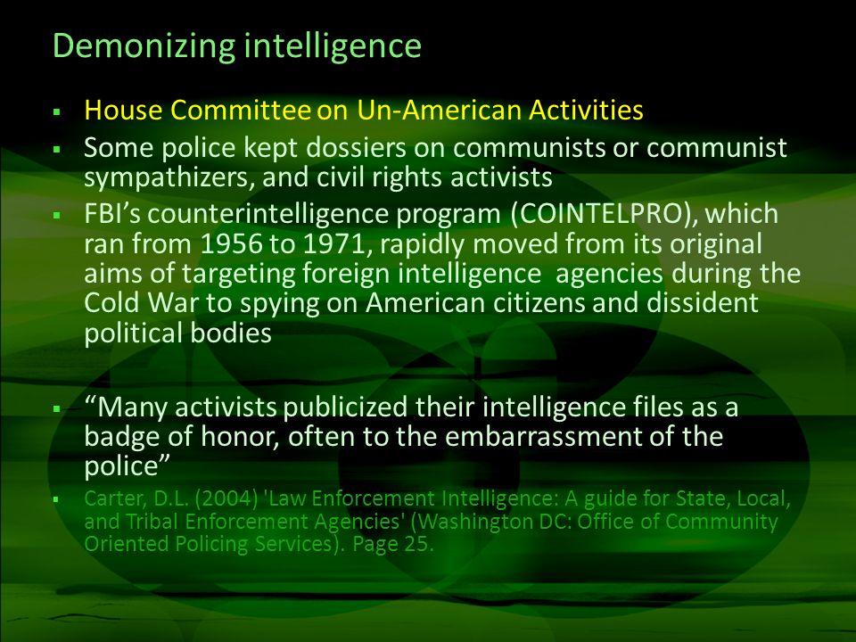Demonizing intelligence