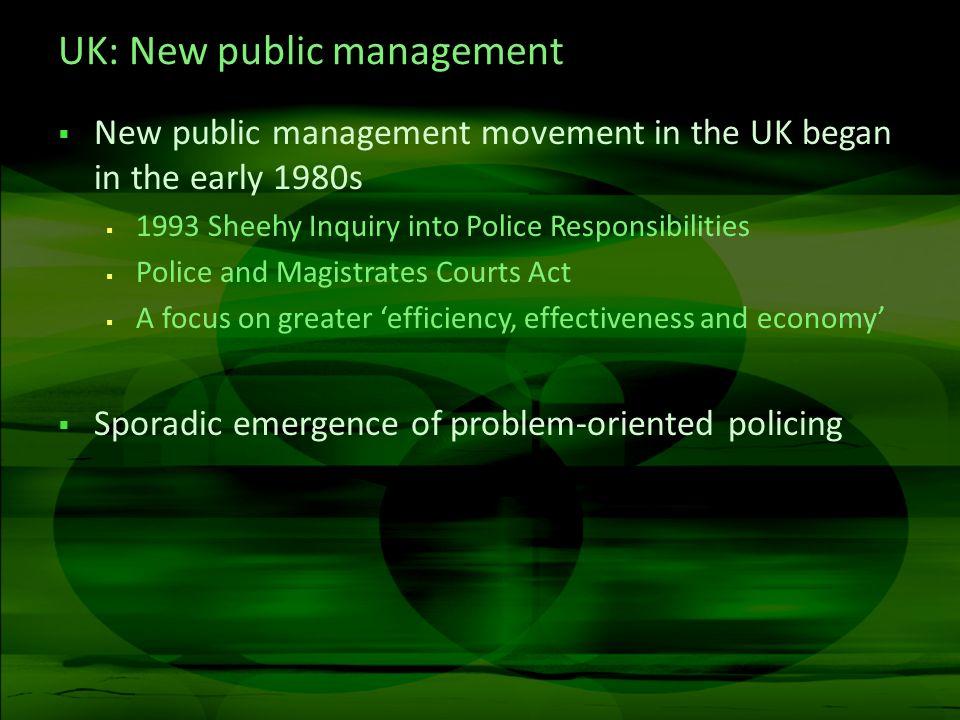 UK: New public management