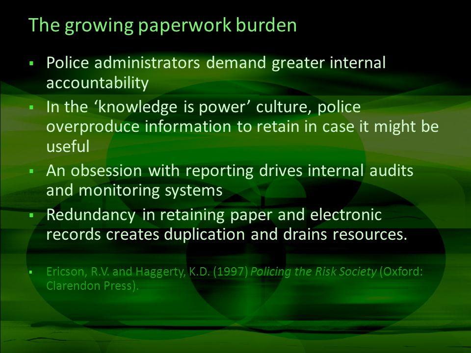 The growing paperwork burden
