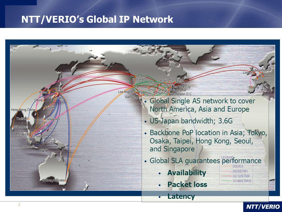 NTT/VERIO's Global IP Network