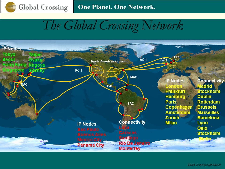The Global Crossing Network