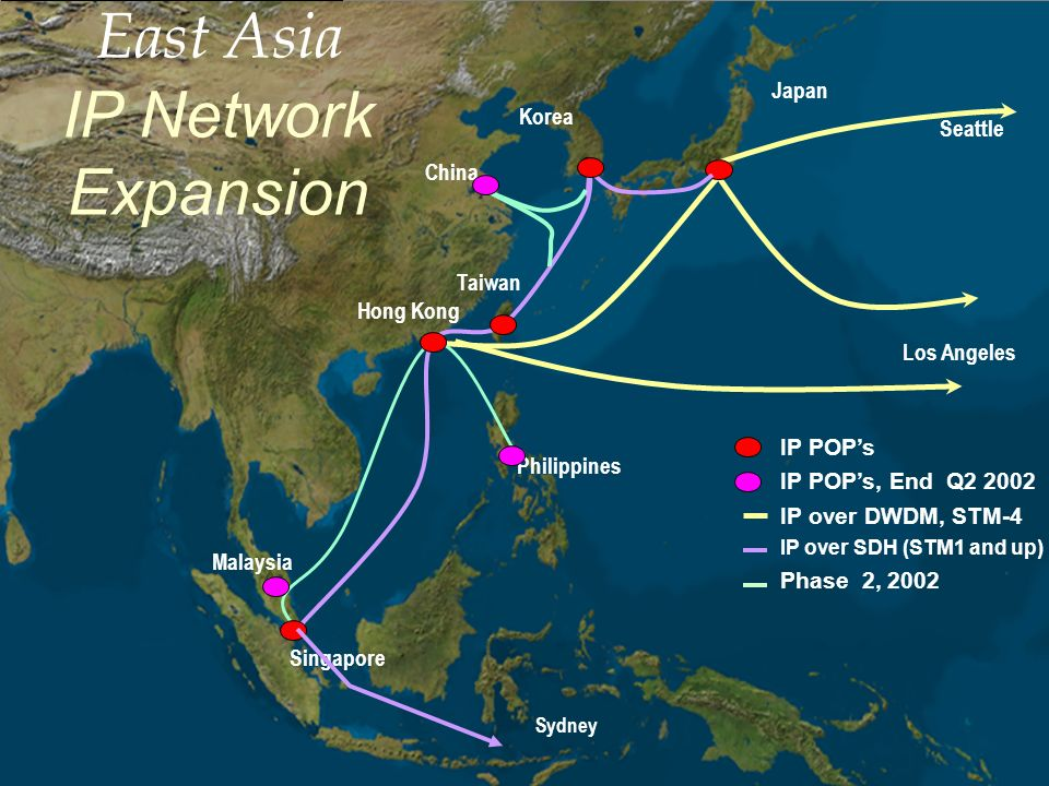 East Asia IP Network Expansion