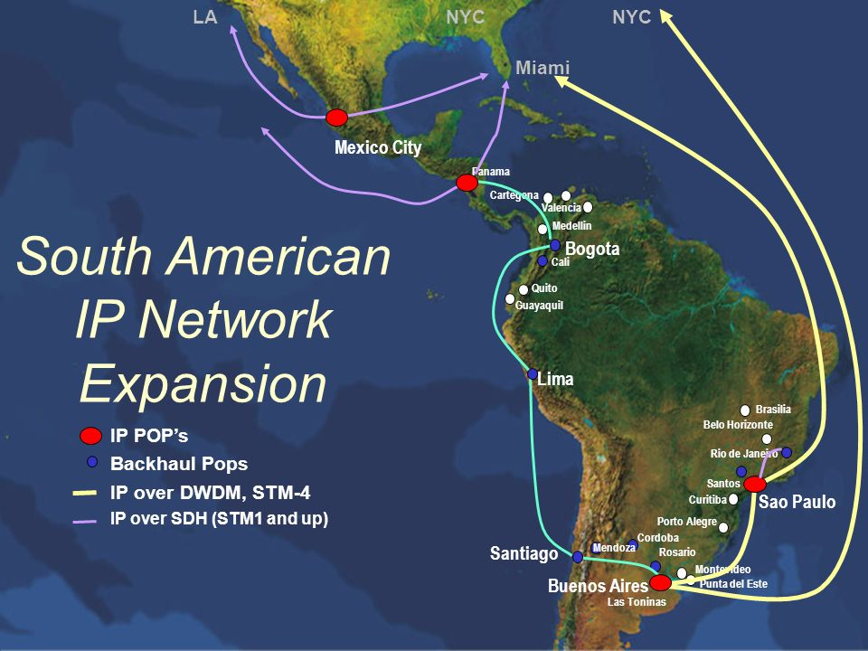 South American IP Network Expansion