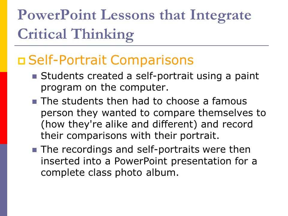 critical thinking for students ppt