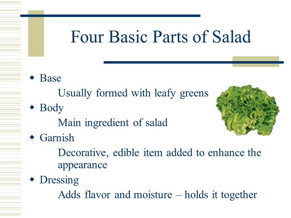 Salads and Garnishes.