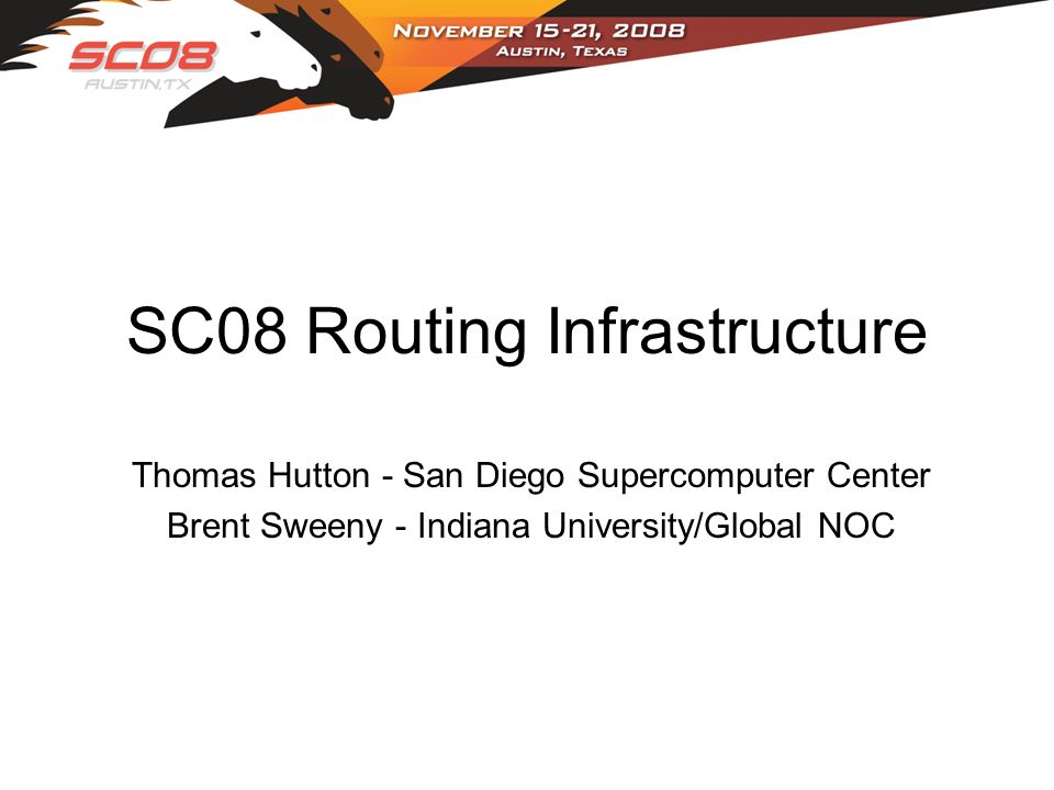 SC08 Routing Infrastructure