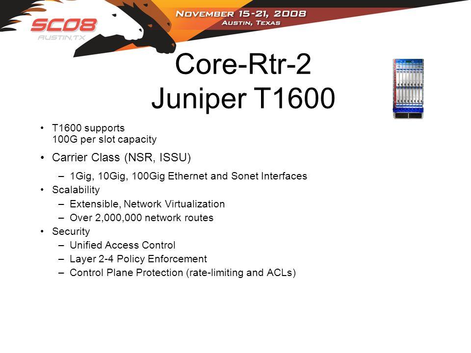 Core-Rtr-2 Juniper T1600 Carrier Class (NSR, ISSU)