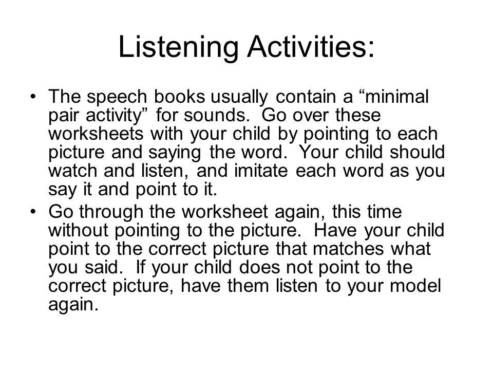 Listening Activities: