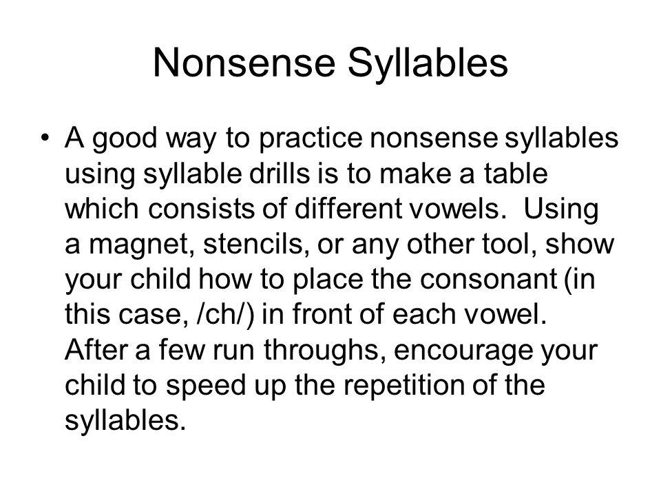 Nonsense Syllables
