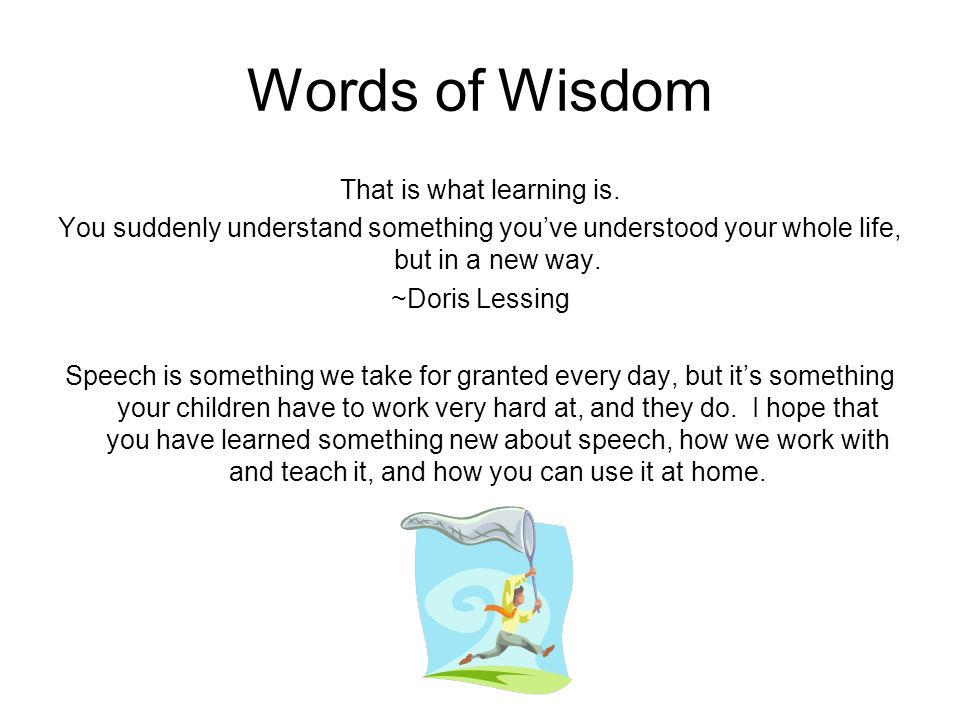 That is what learning is.