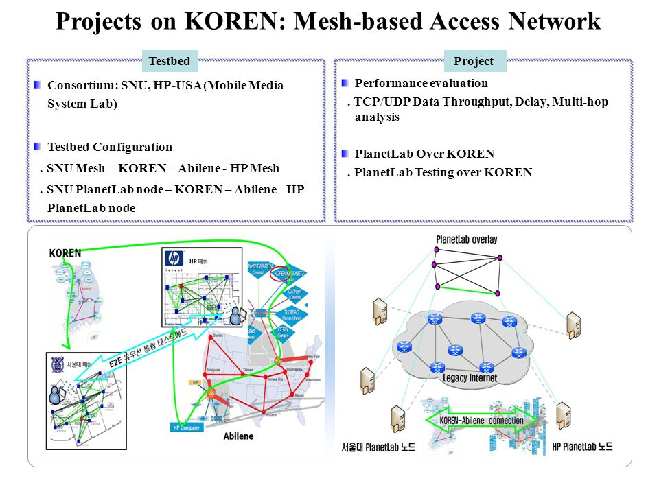 Projects on KOREN: Mesh-based Access Network