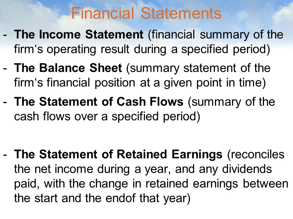 Financial Statements Ratio Analysis - Ppt Download