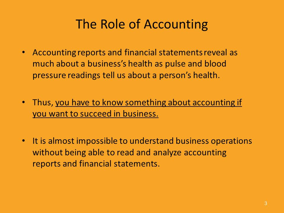 the role of financial accounting in This report discusses the role of the management accountant in the  the role of  finance and accounting professionals in healthcare is evolving, notably.