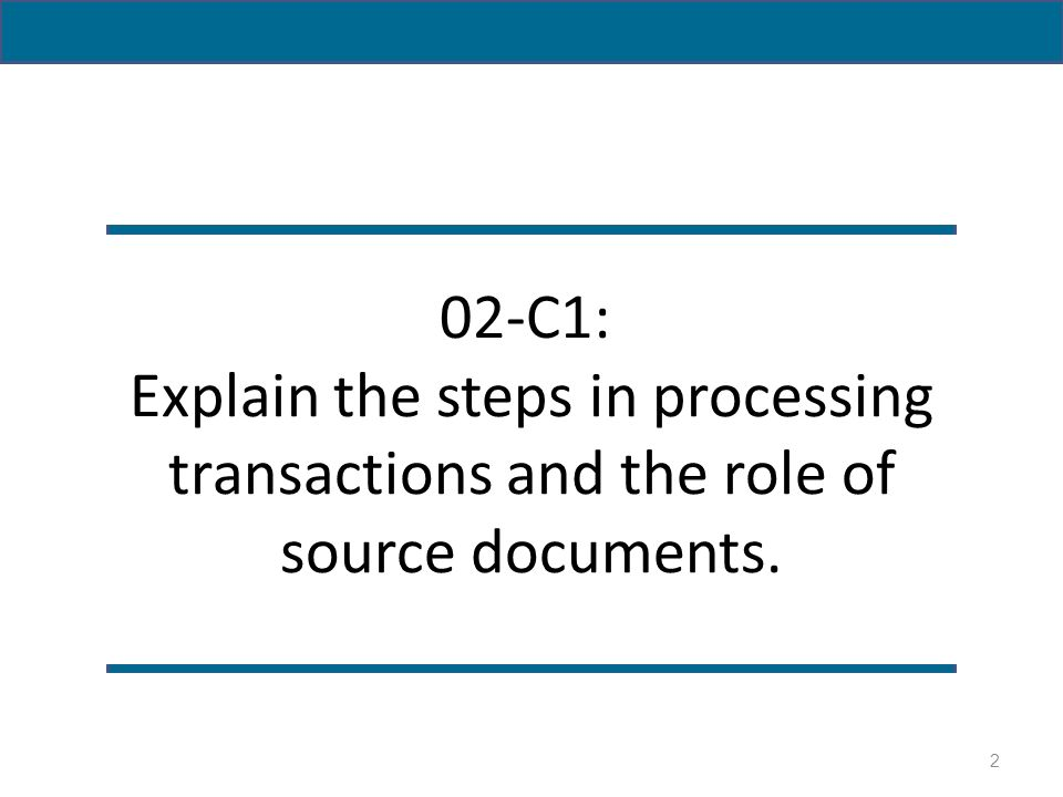 steps on processing business transactions To review the steps in the accounting cycle 3 to review how  reports  information related to the financial aspects of business events all aiss  record,  process and report past transactions in accordance with generally accepted  accounting.