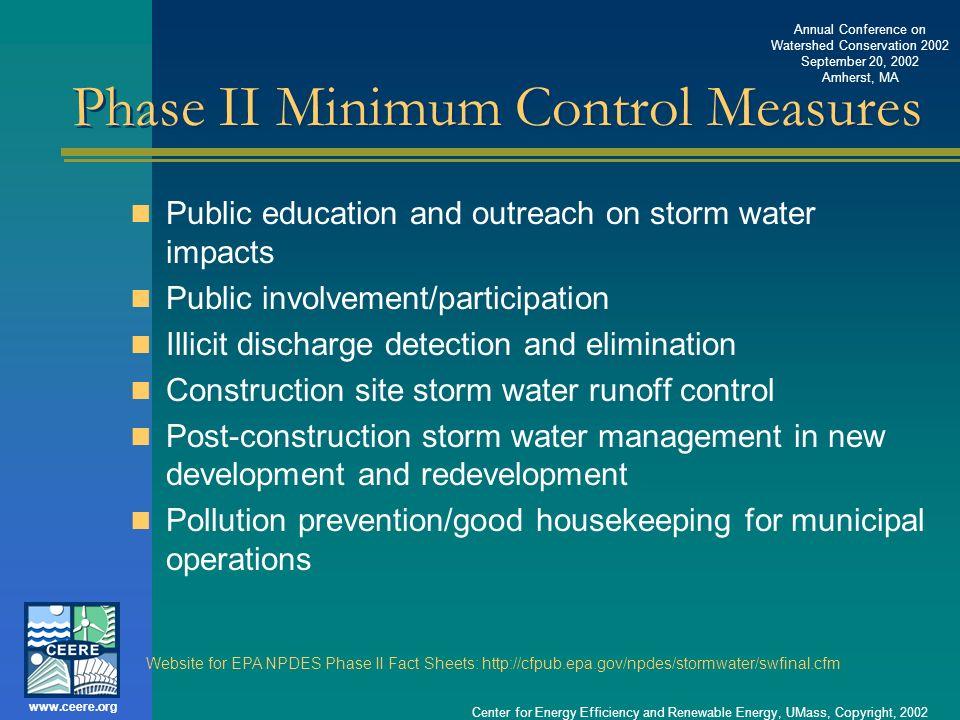Phase II Minimum Control Measures