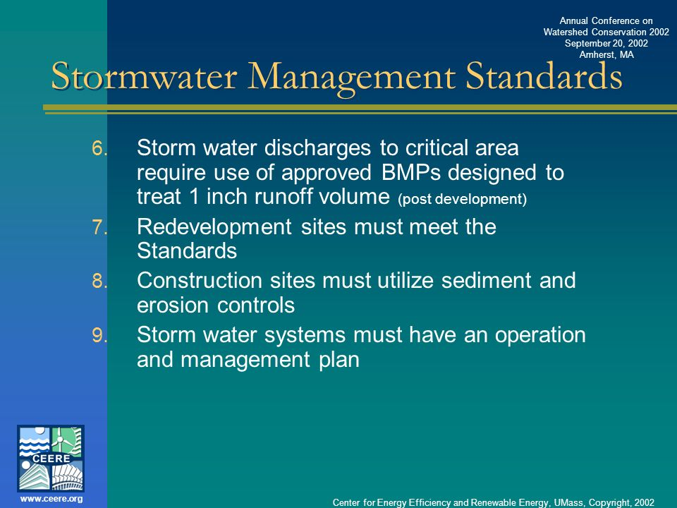 Stormwater Management Standards