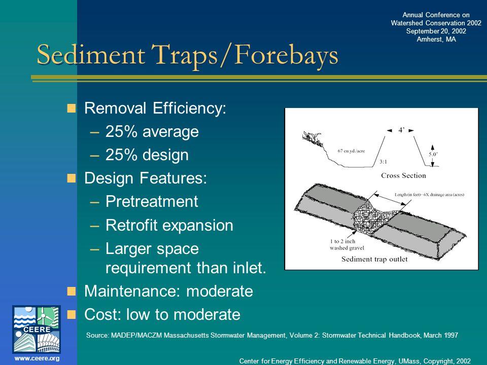 Sediment Traps/Forebays