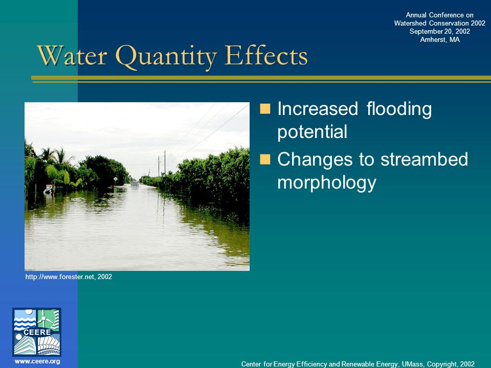 Water Quantity Effects