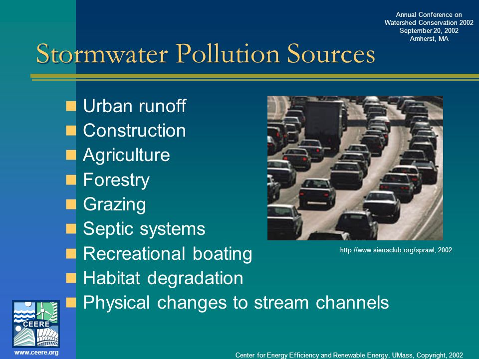 Stormwater Pollution Sources