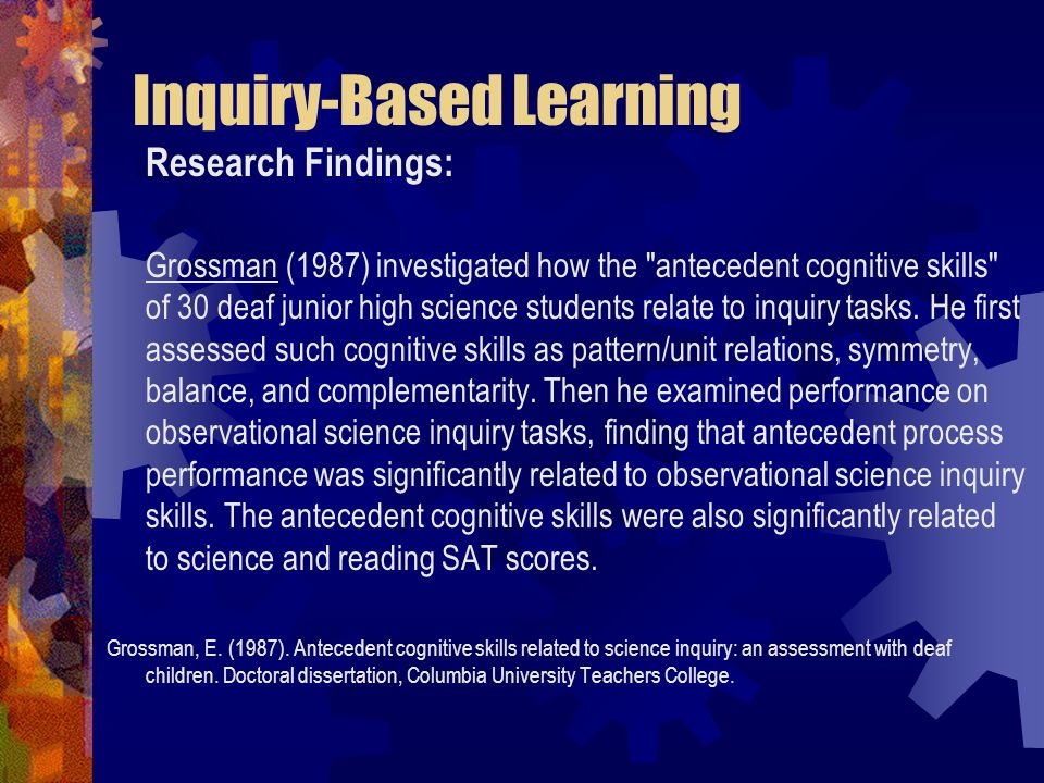 Inquiry-Based Learning