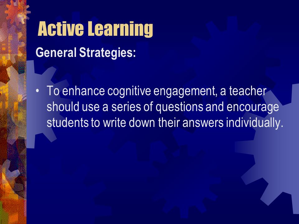 Active Learning General Strategies: