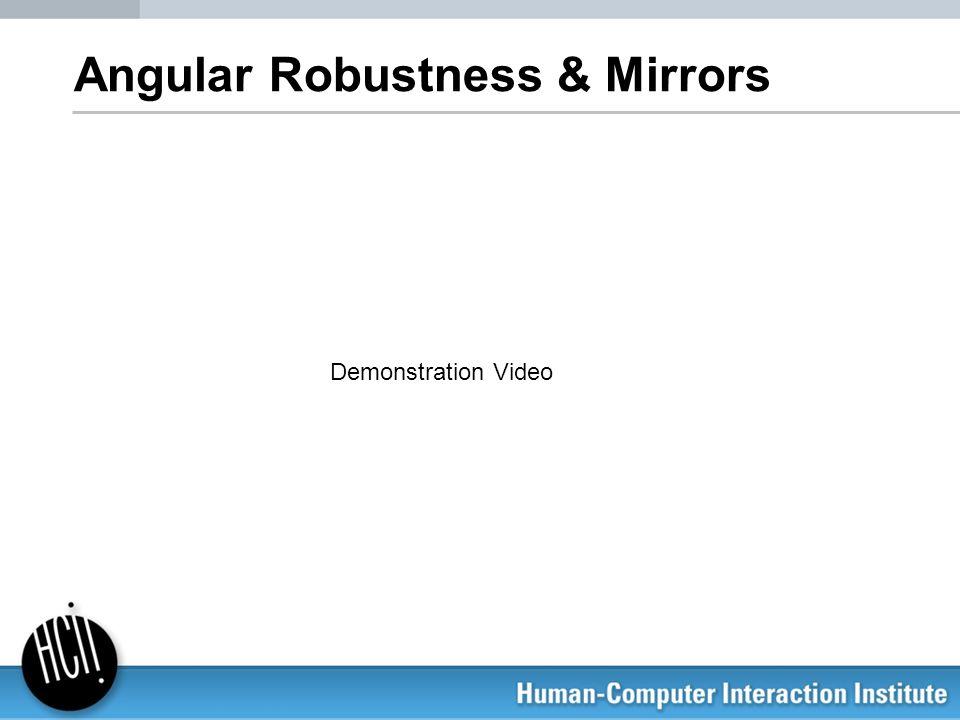 Angular Robustness & Mirrors