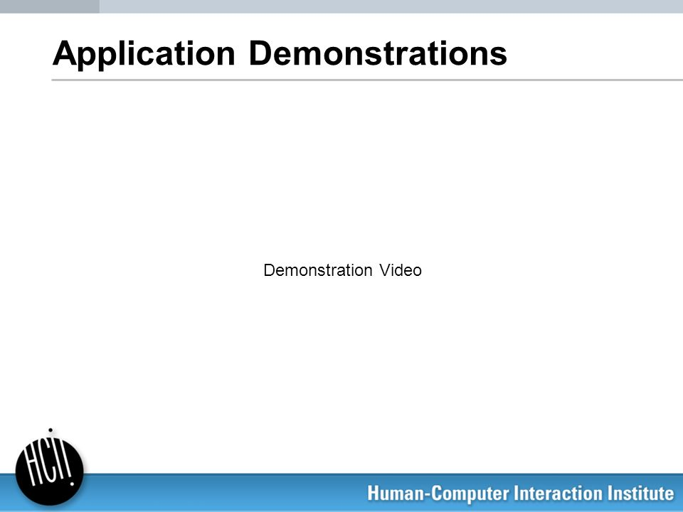 Application Demonstrations