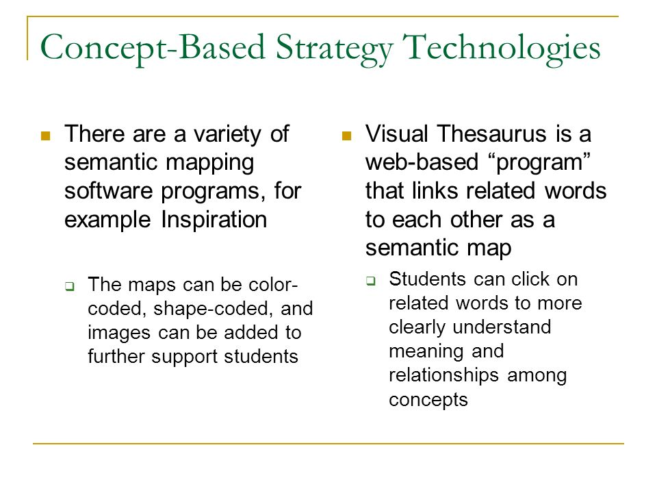 Concept-Based Strategy Technologies