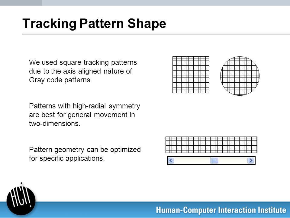 Tracking Pattern Shape