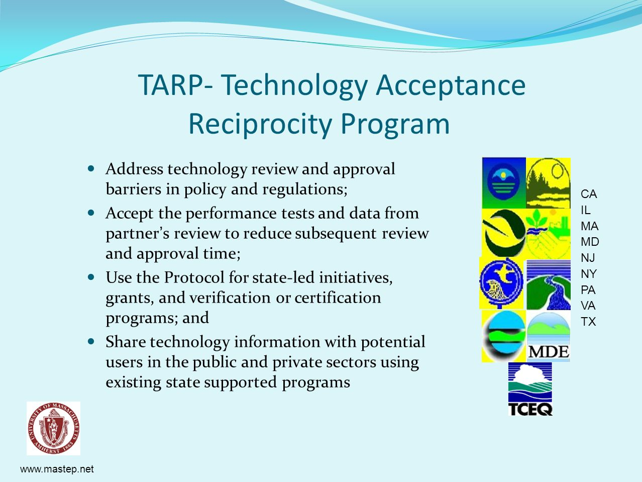 TARP- Technology Acceptance Reciprocity Program