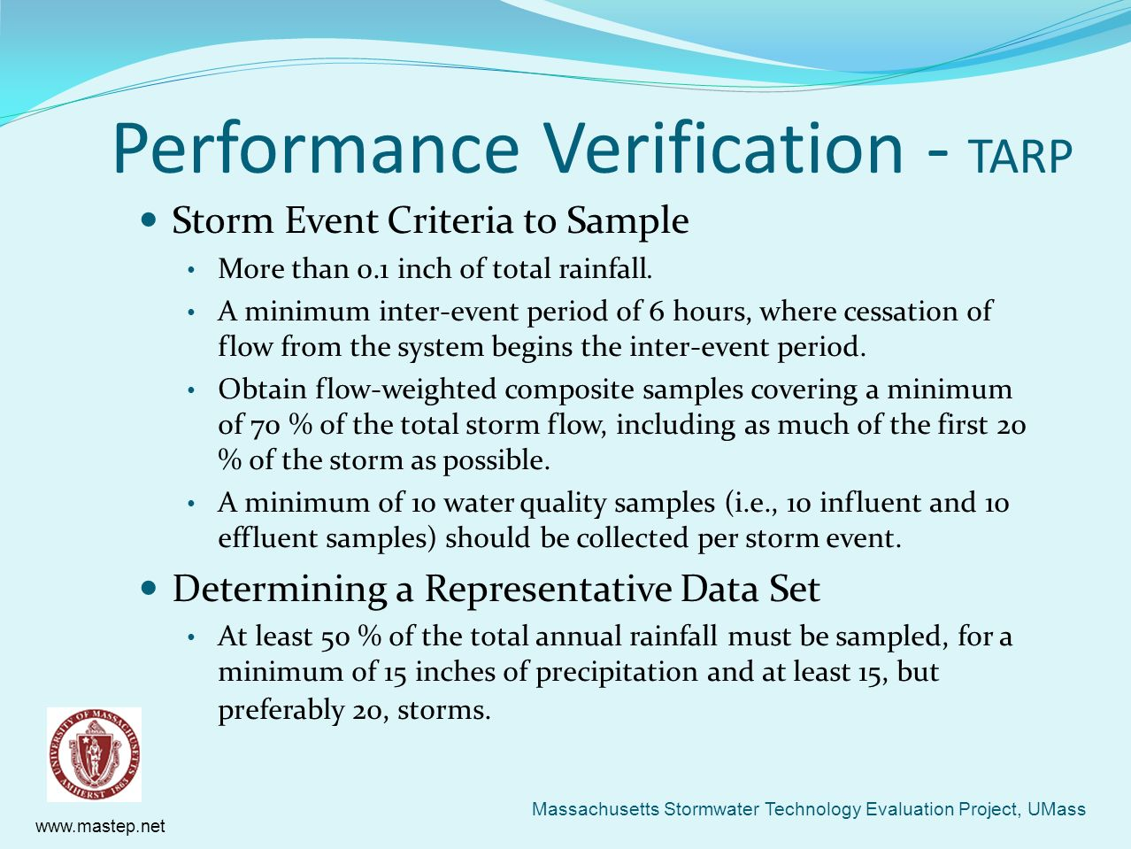 Performance Verification - TARP
