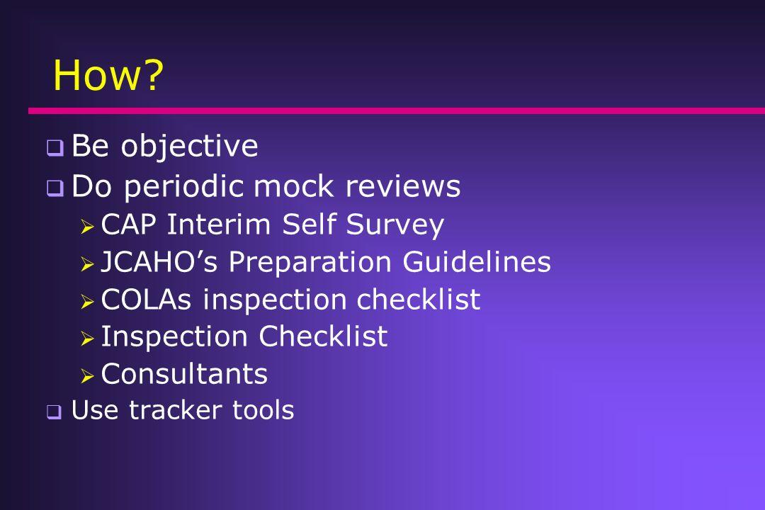 How Be objective Do periodic mock reviews CAP Interim Self Survey