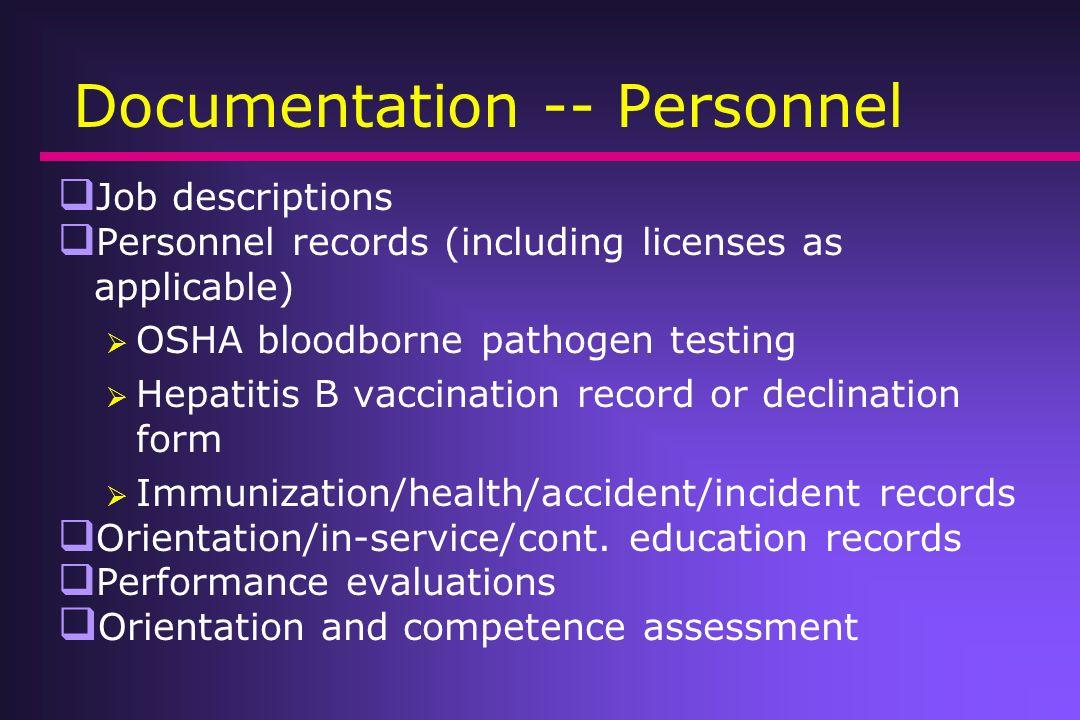 Documentation -- Personnel