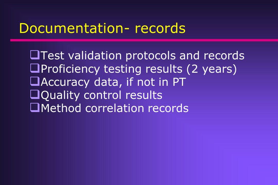Documentation- records
