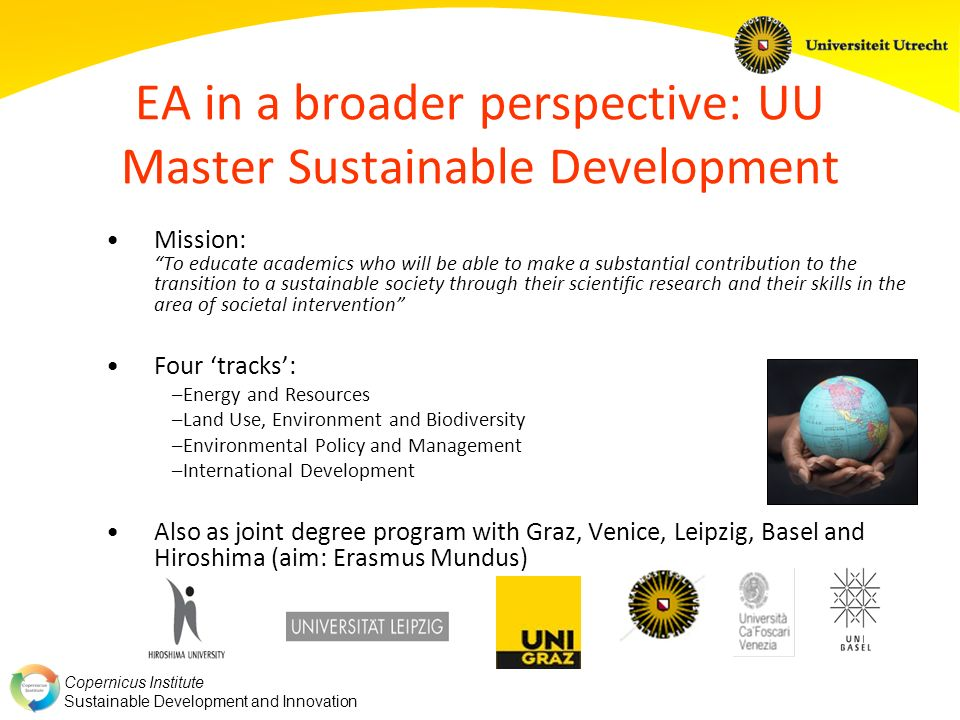EA in a broader perspective: UU Master Sustainable Development