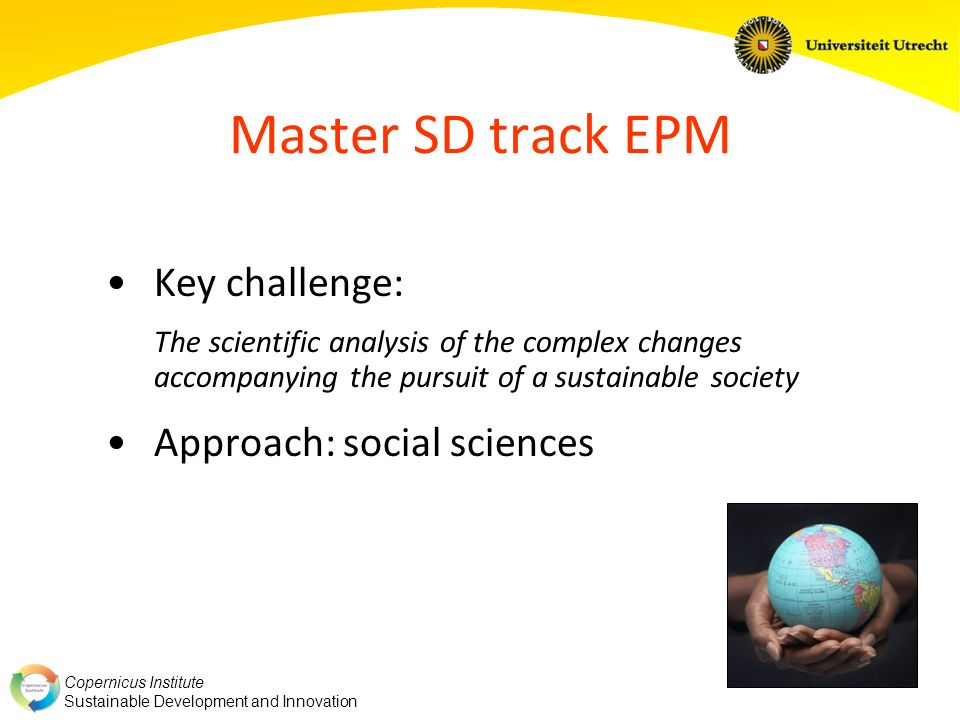Master SD track EPM Key challenge: Approach: social sciences