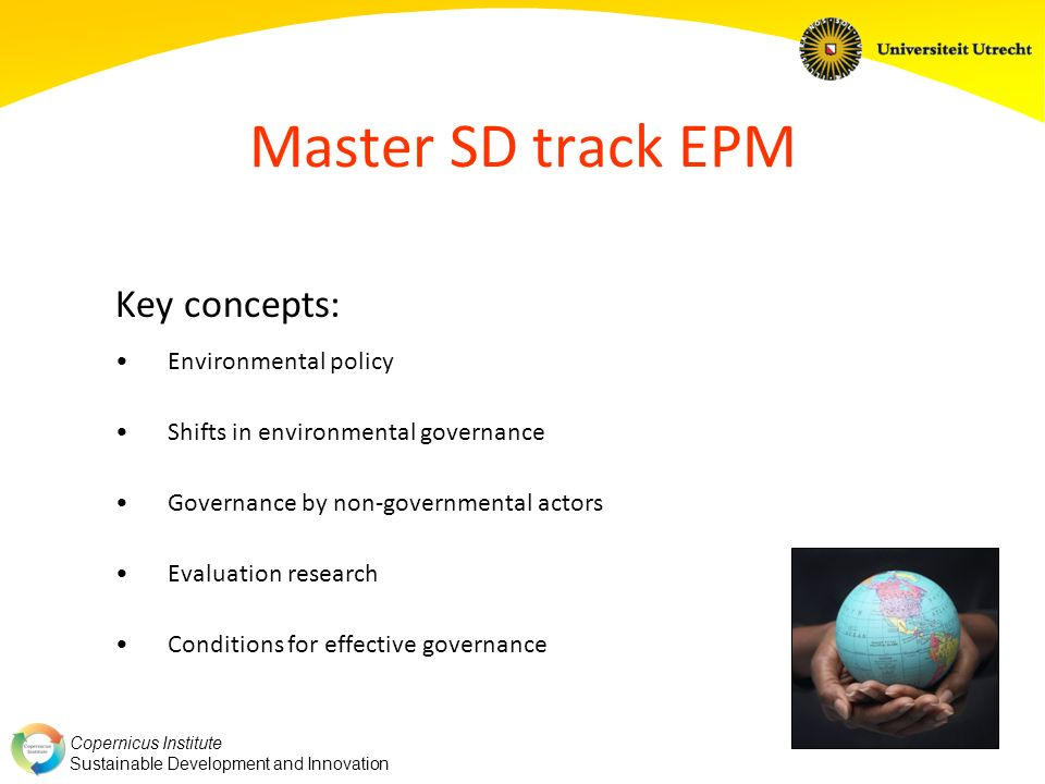 Master SD track EPM Key concepts: Environmental policy