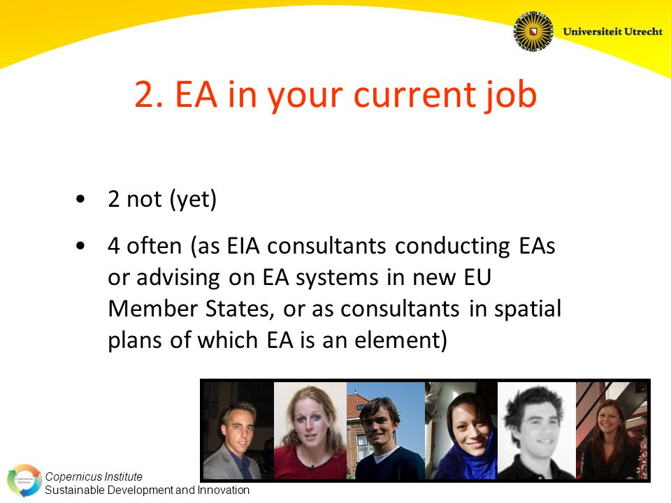2. EA in your current job 2 not (yet)