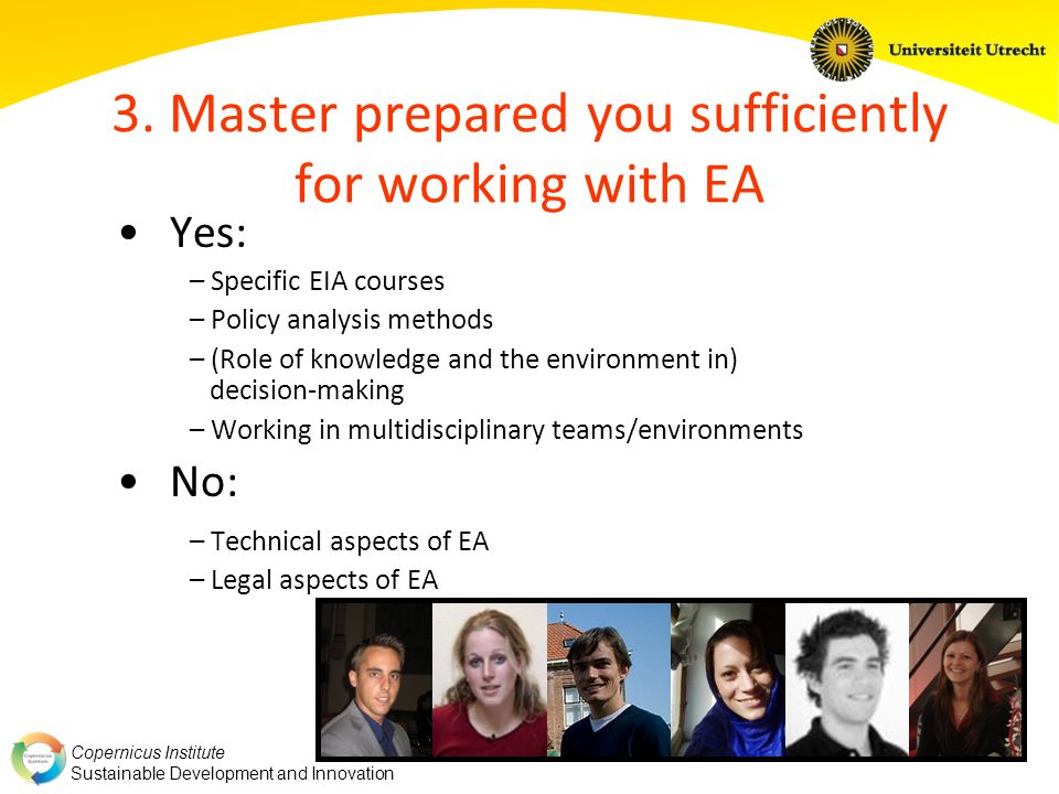 3. Master prepared you sufficiently for working with EA
