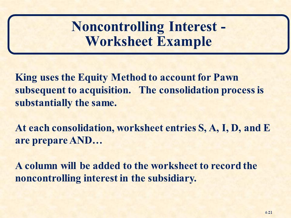 Consolidated Financial Statements and Outside Ownership - ppt download