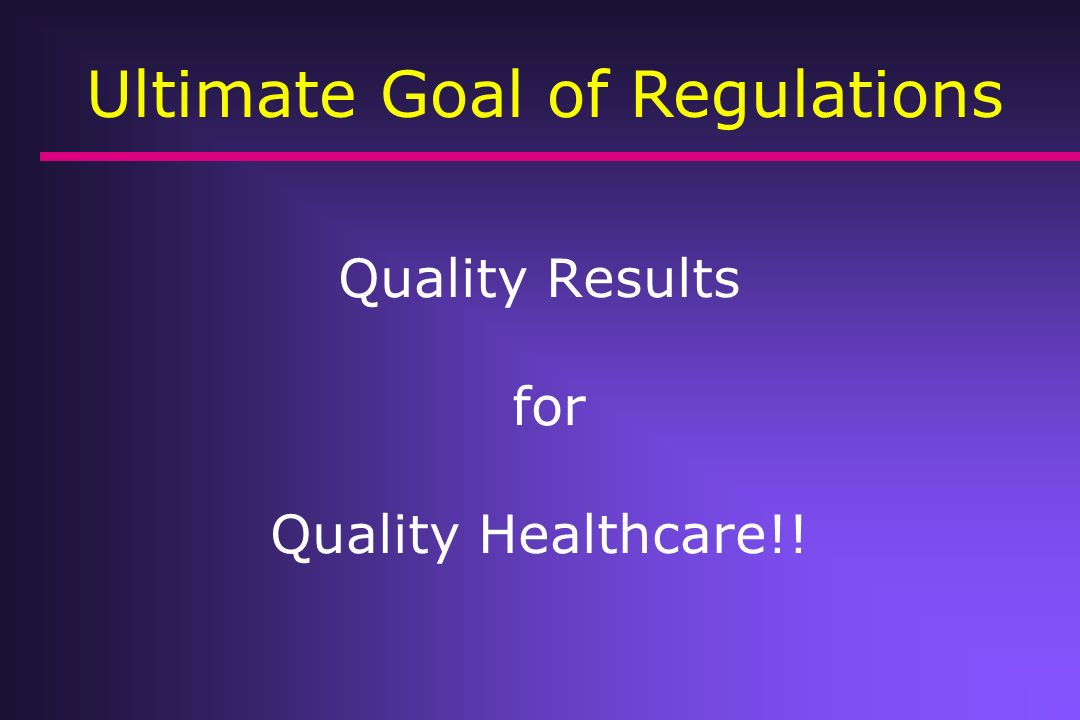 Quality Results for Quality Healthcare!!